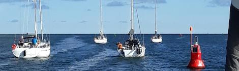 Flottillensegeln als Höhepunkt des Vereinslebens
